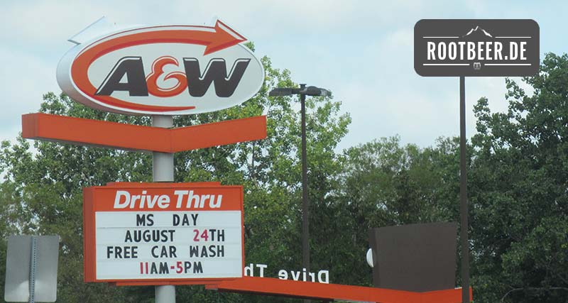 A&W Root Beer Burger Restaurant in den USA