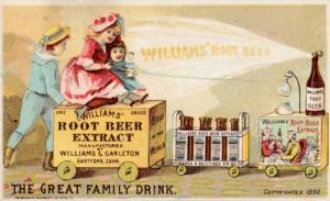 rootbeer.de | Historische Postkarte Williams Rootbeer aus den USA